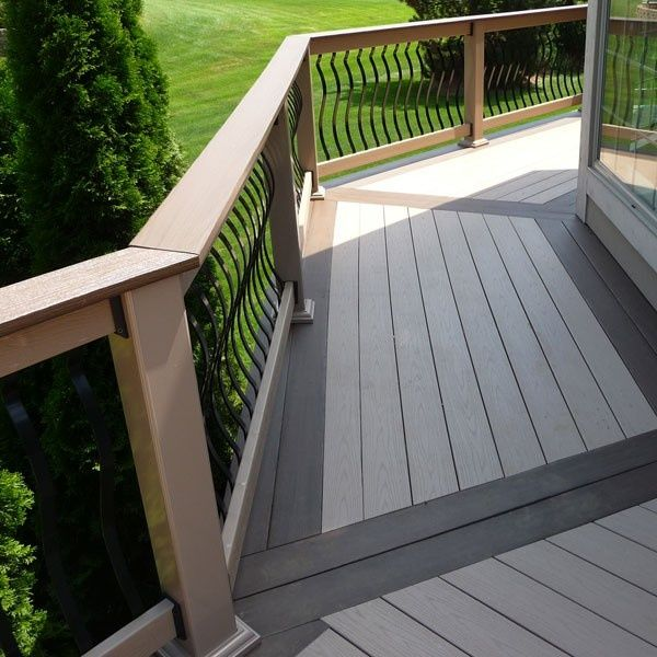 Two Tone Deck Ideas Two Tone Composite Deck Steel Strap