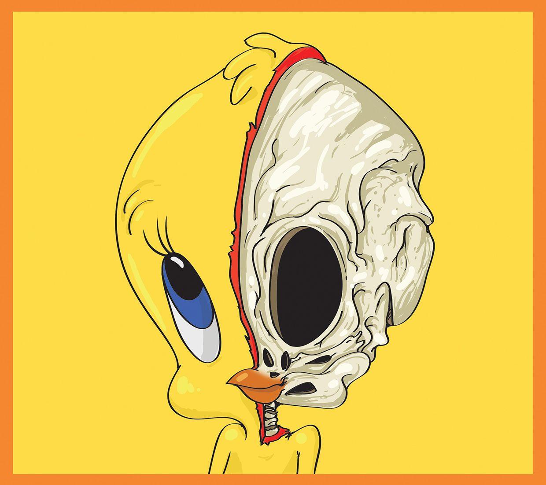 cute yellow skeleton cartoon anatomy mahmoud refaat obsessed