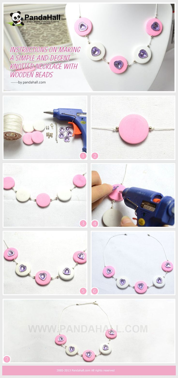 Instructions on Making a Simple and Decent Knotted Necklace with Wooden Beads #diy