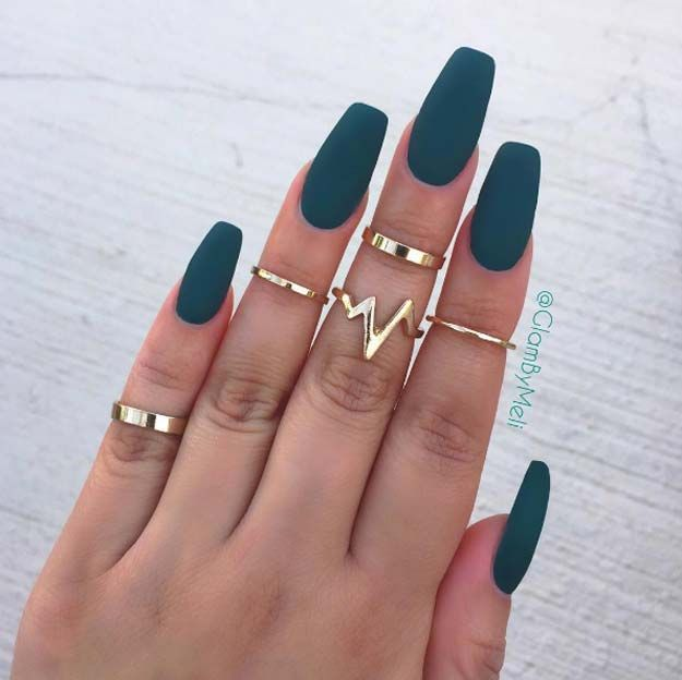 Nail Art Ideas For Coffin Nails - Jaded - Easy, Step-By-Step Design For Coffin Nails, Including Grey, Matte Black, And Great Bling For Instagram Ideas. Includes Everything From Kylie Jenner Ideas To Nailart For Short Nails, Long Nails, And Beautiful Shape And Colour Like Pink. Polish For Jade, Glitter, And Even Negative Space - https://thegoddess.com/nail-ideas-coffin-nails