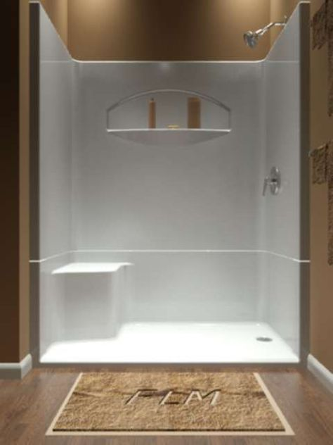 Attrayant One Piece Shower, The Idea Of A One Piece Shower Insert Will Appeal To  Those Who Like Bathroom Shower Enclosures But Not The Work And Upkeep Of  Tiles.