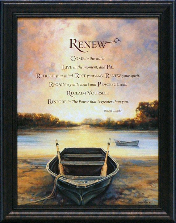 Delicieux Renew By Bonnie Mohr Framed Inspirational Print By TagaiMeyer, $44.95