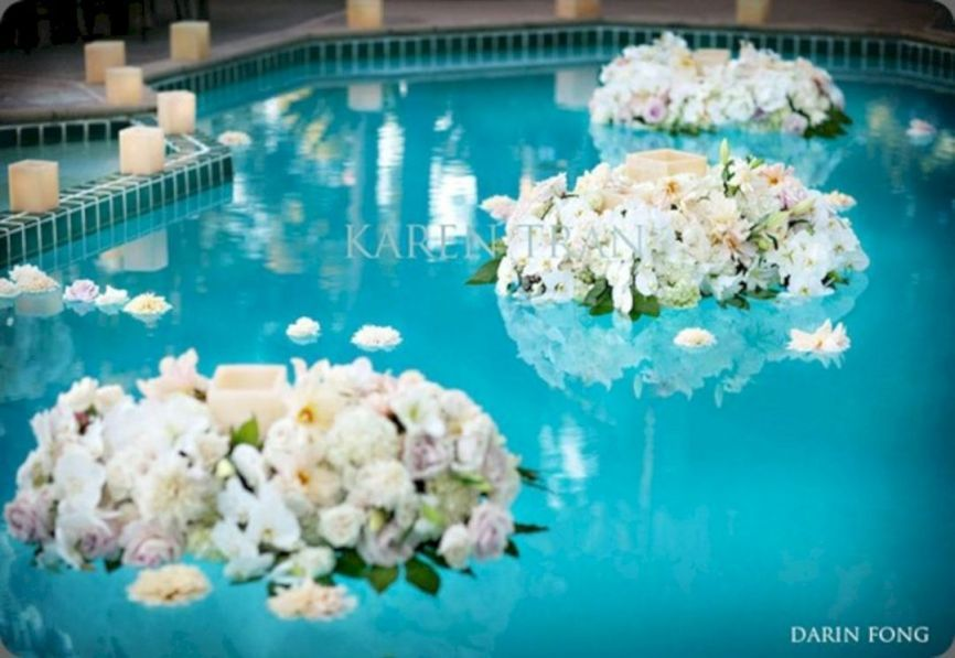 Best inspirations 45 awesome pool wedding decorations