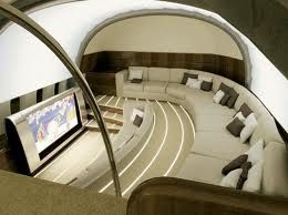 A living room on a plane? I'm obssessed with this!