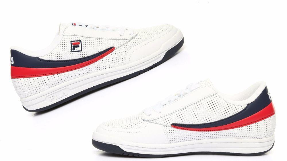 ca61ab15c7b89d Men FILA Original Tennis Perf Sneakers Navy,Red,White 1VT13067-150 #Fila  #1VT13067150