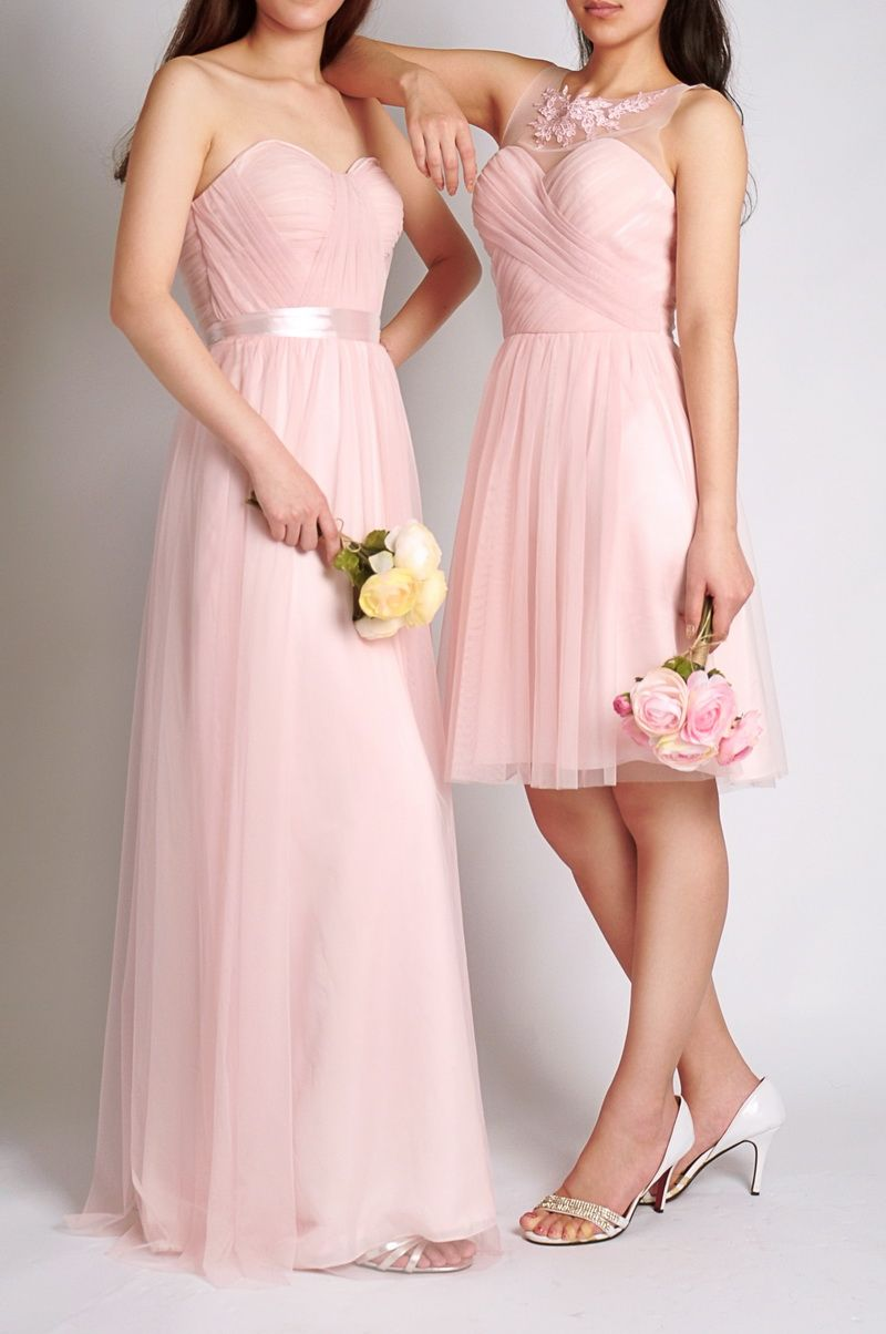 Pink Bridesmaid Dresses, Blush Peach Bridesmaid Gowns at ...
