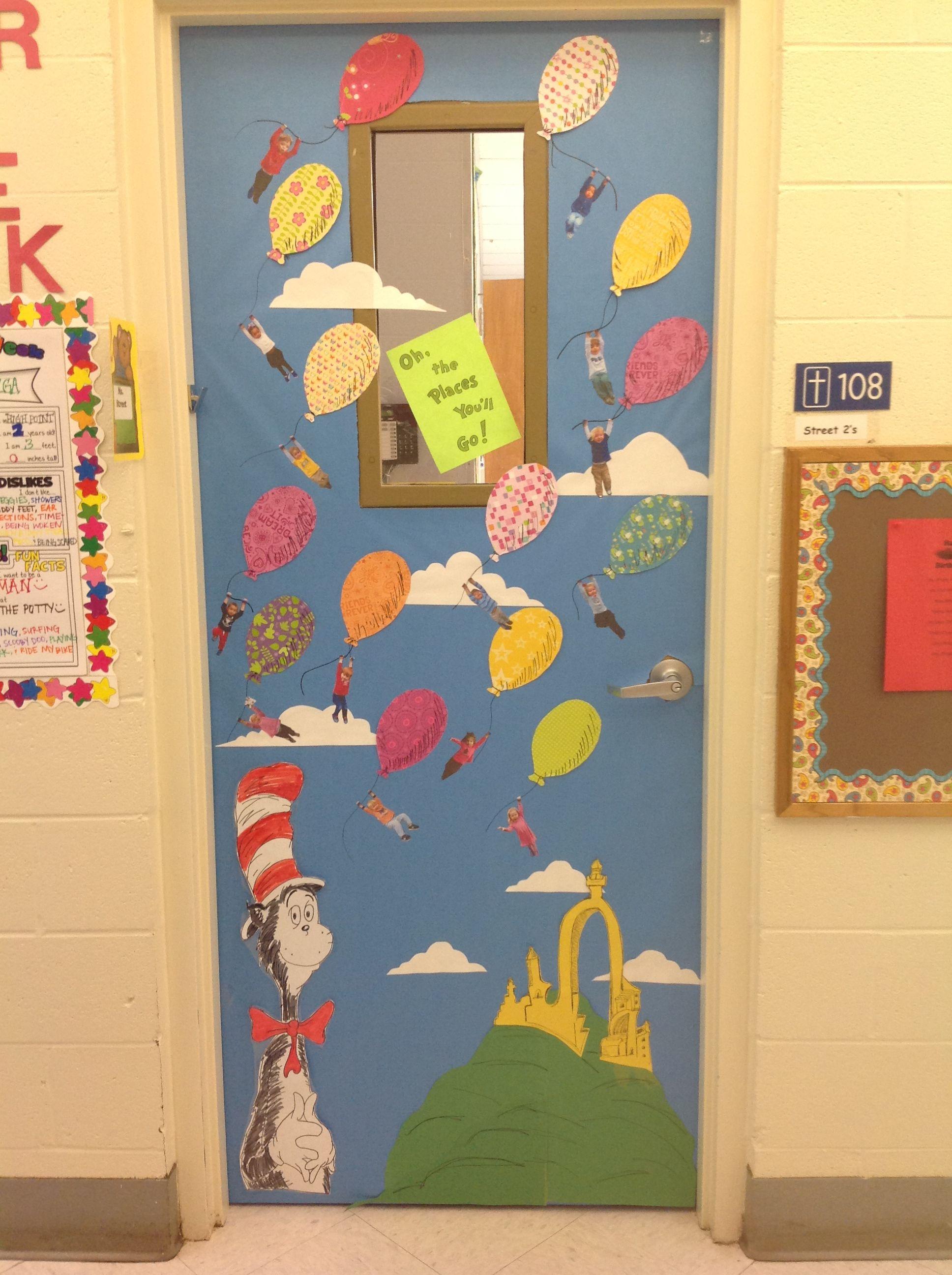 Classroom Ideas To Go ~ Dr seuss classroom door idea oh the places you ll go
