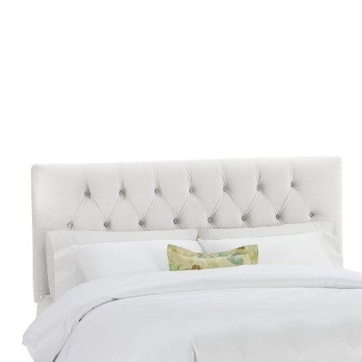 Skyline Edwardian Upholstered Velvet Headboard   Gray   Twin   Skyline  Furniture®