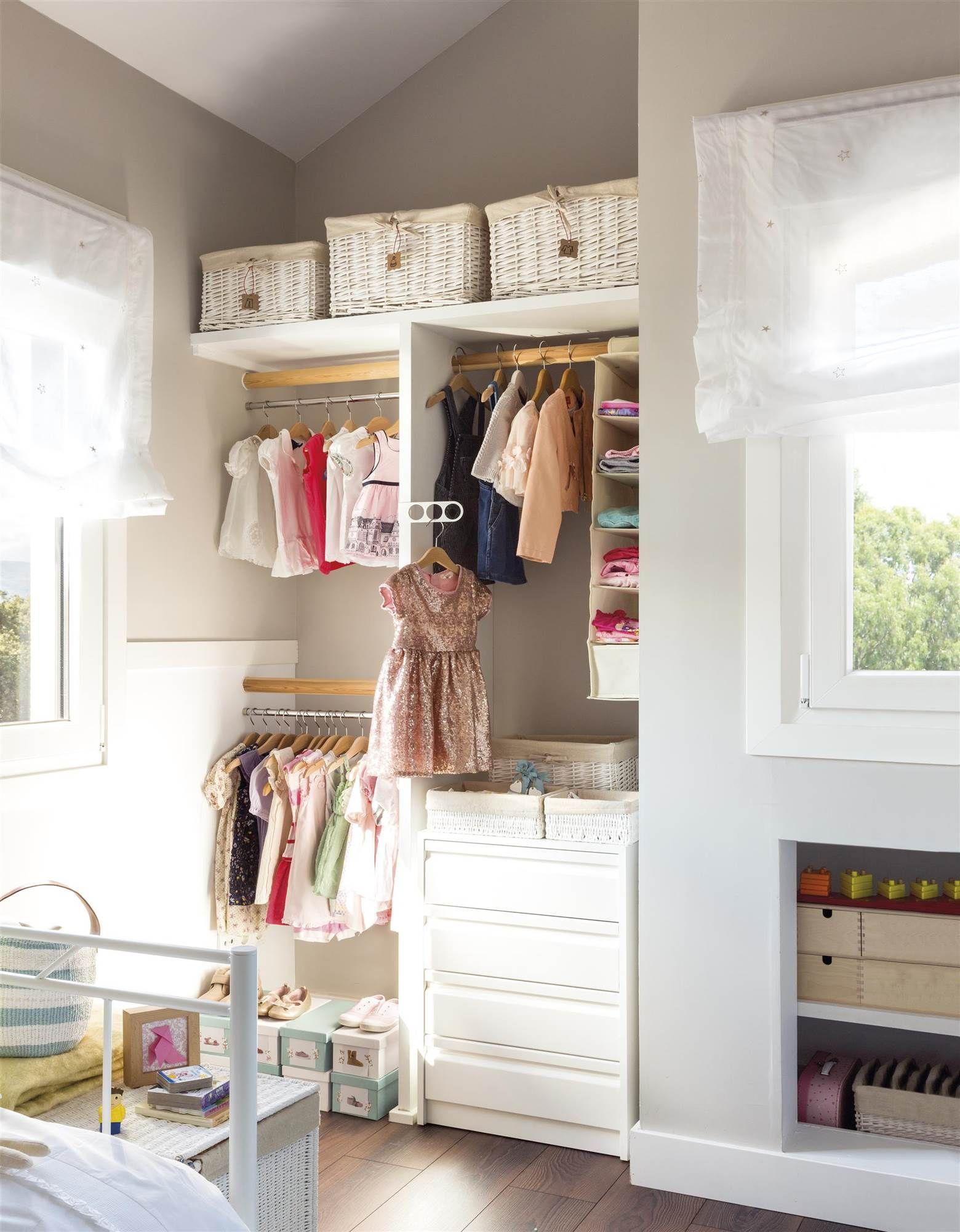 Todo a la vista en 2019 armarios para ni os - Como amueblar un dormitorio pequeno ...