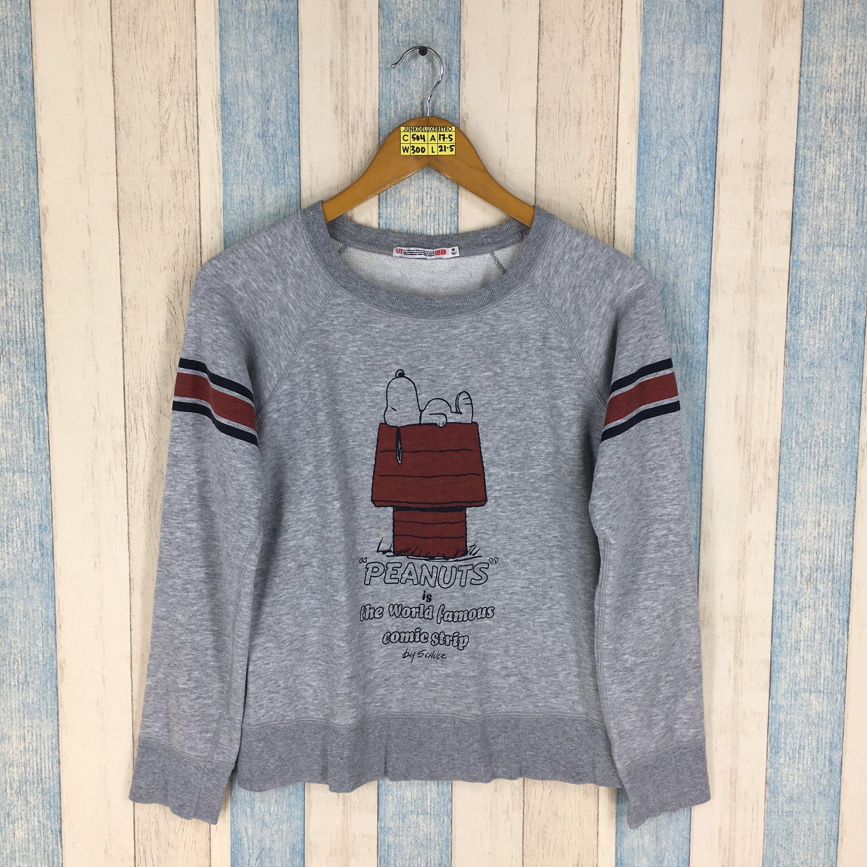 SNOOPY Joe Cool Gray Sweaters Women Medium Vintage Snoopy