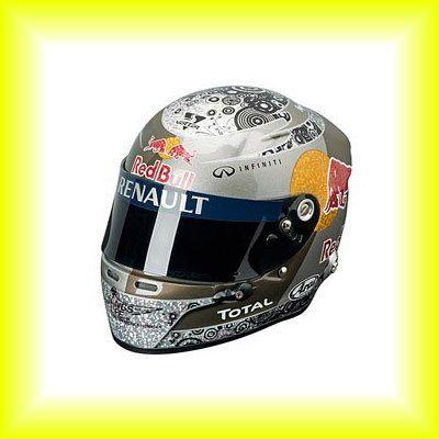 This is rare item!  Sebastian Vettel F1 Red Bull Formula1 Champion Racing Helmet 1/2 2010 Japan Rare #f1