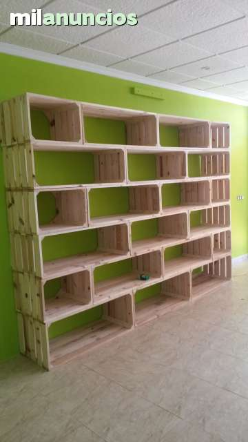 Estanterias madera tablas palets