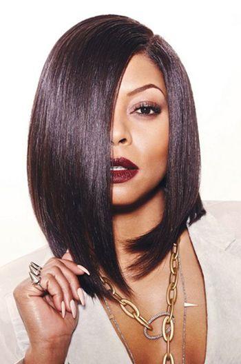 Taraji Clic A Line Bob Deep Side Part Human Hair Lace Wigs