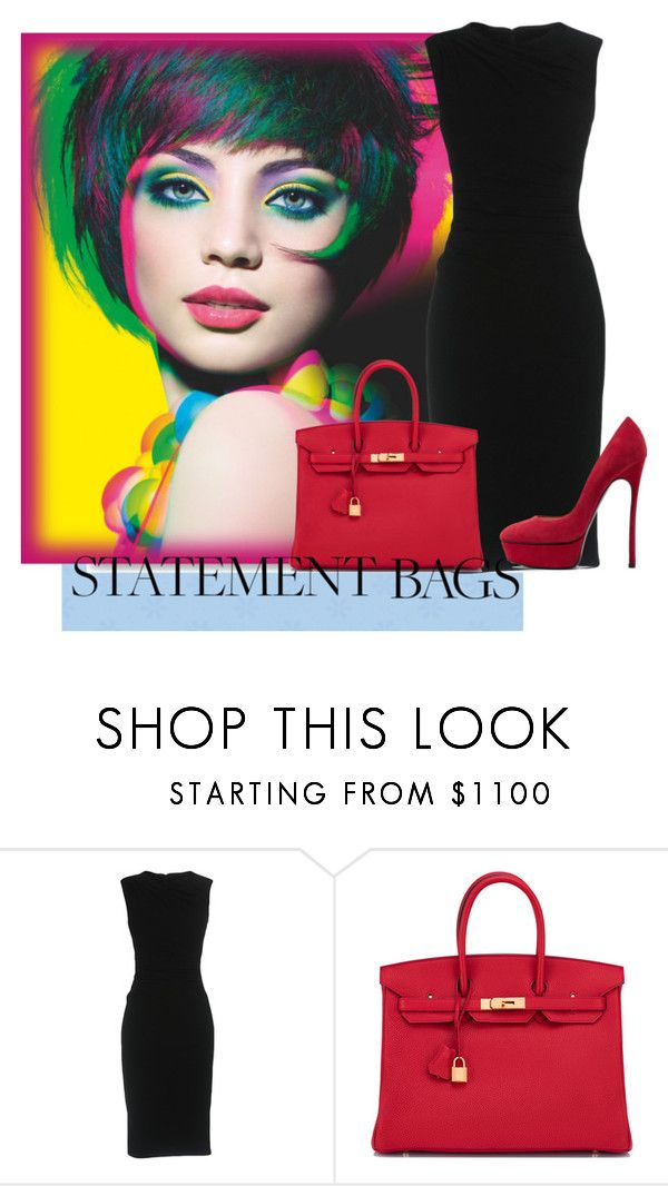 """Statement Bags"" by annazow ❤ liked on Polyvore featuring Dolce&Gabbana, Hermès and Casadei"