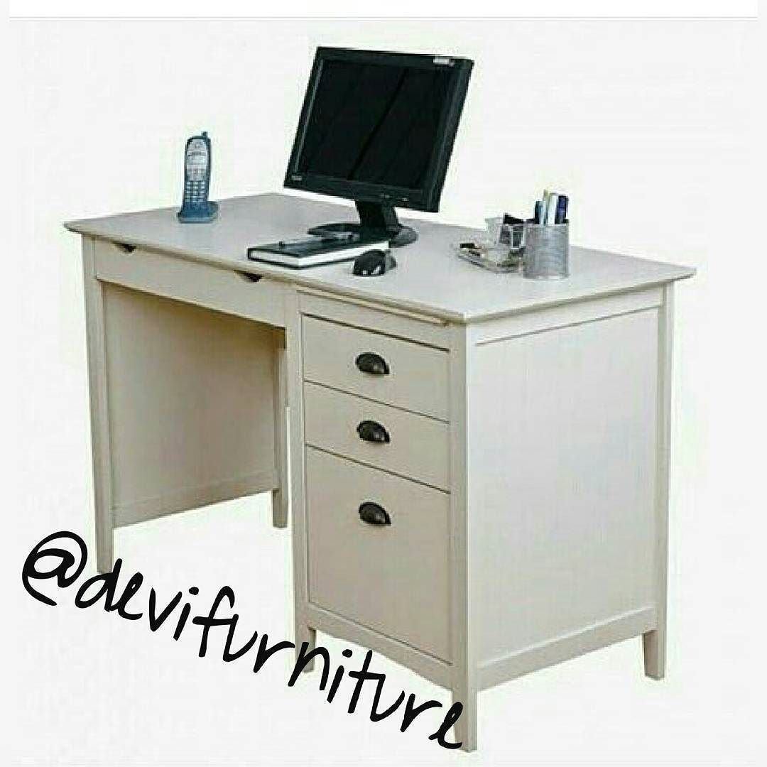 Devifurniture Jepara On Instagram Lemaripakean Furnituresurabaya Lemaripajang Furniture Kemang Bsd Jualfur Desk With Drawers White Computer Desk Office Desk