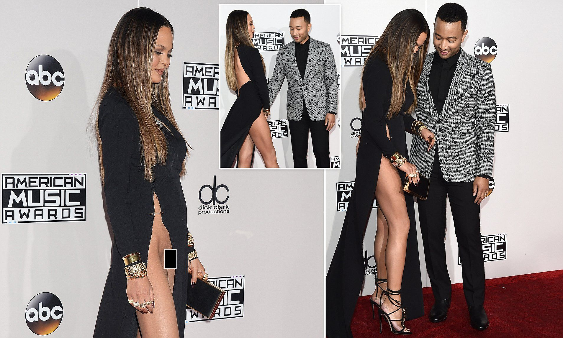 Chrissy Teigen won the award for the most revealing dress at the American  Music Awards on