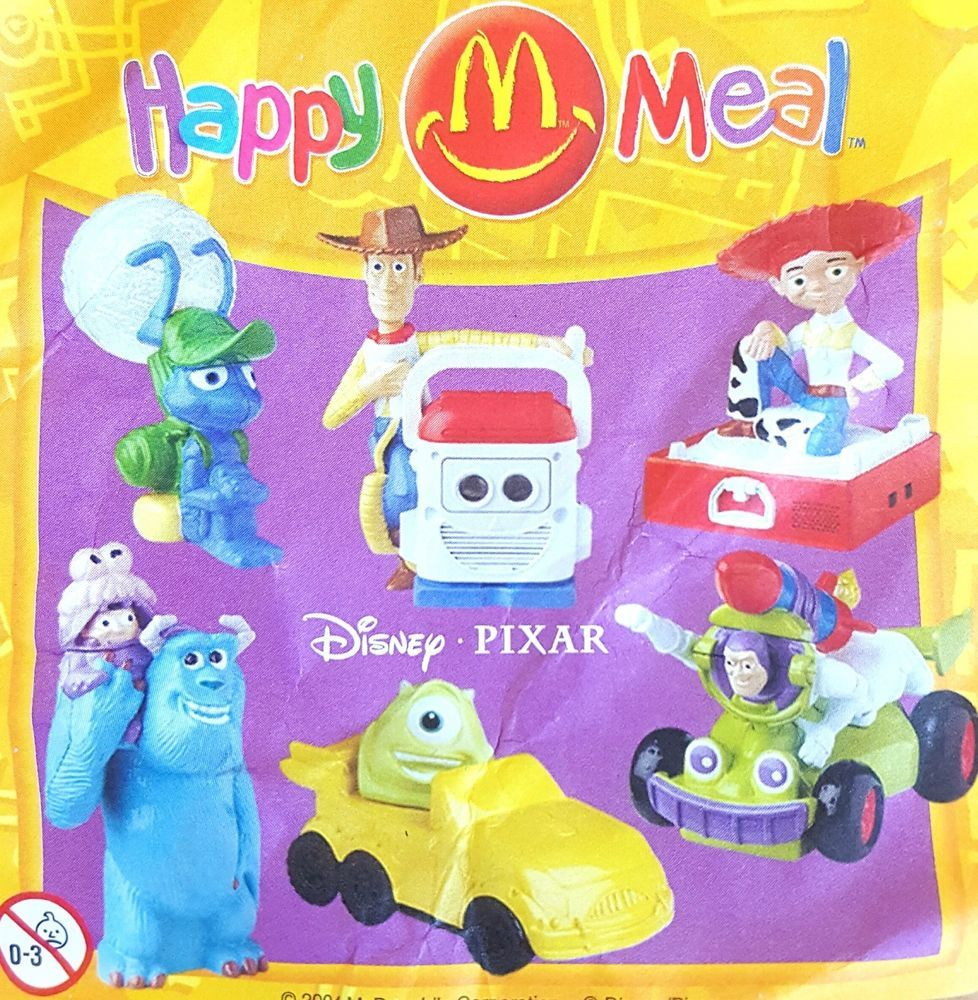 McDonalds Happy Meal Toy 2004 DISNEY Pixar Characters ...