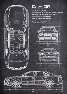 Audi A8 CHALK   Displate thumbnail