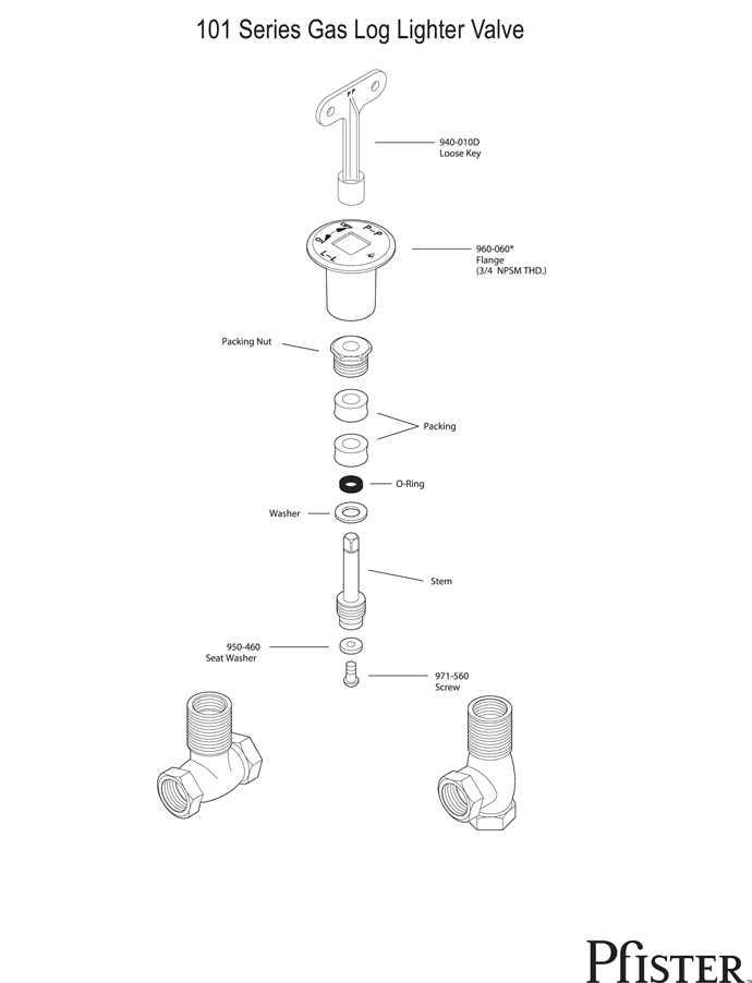 Fireplace Gas Valve Diagram