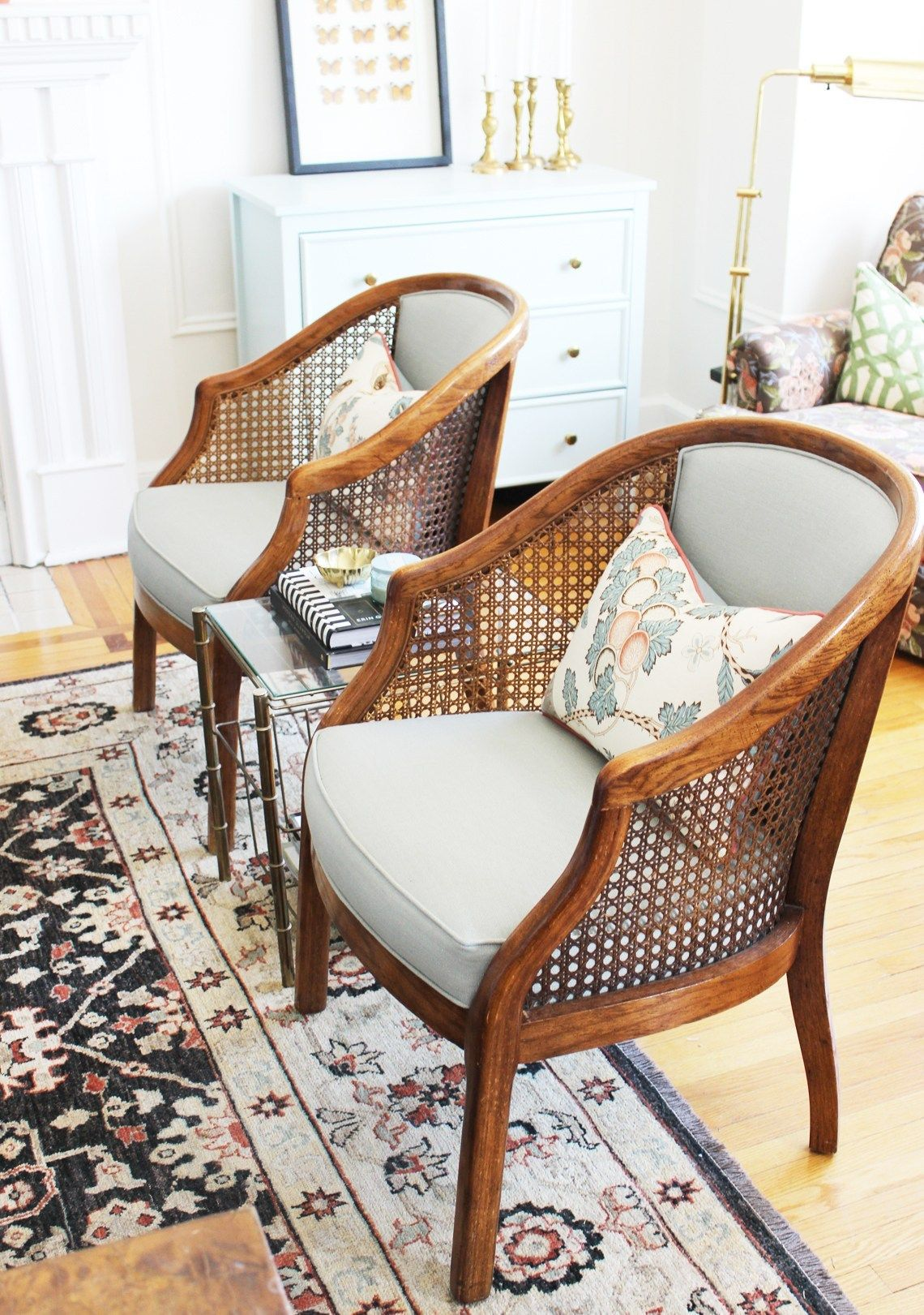 Home Of The Month A Chic Toronto Apartment Tour Simple Stylings Furniture Cane Chair Makeover Home
