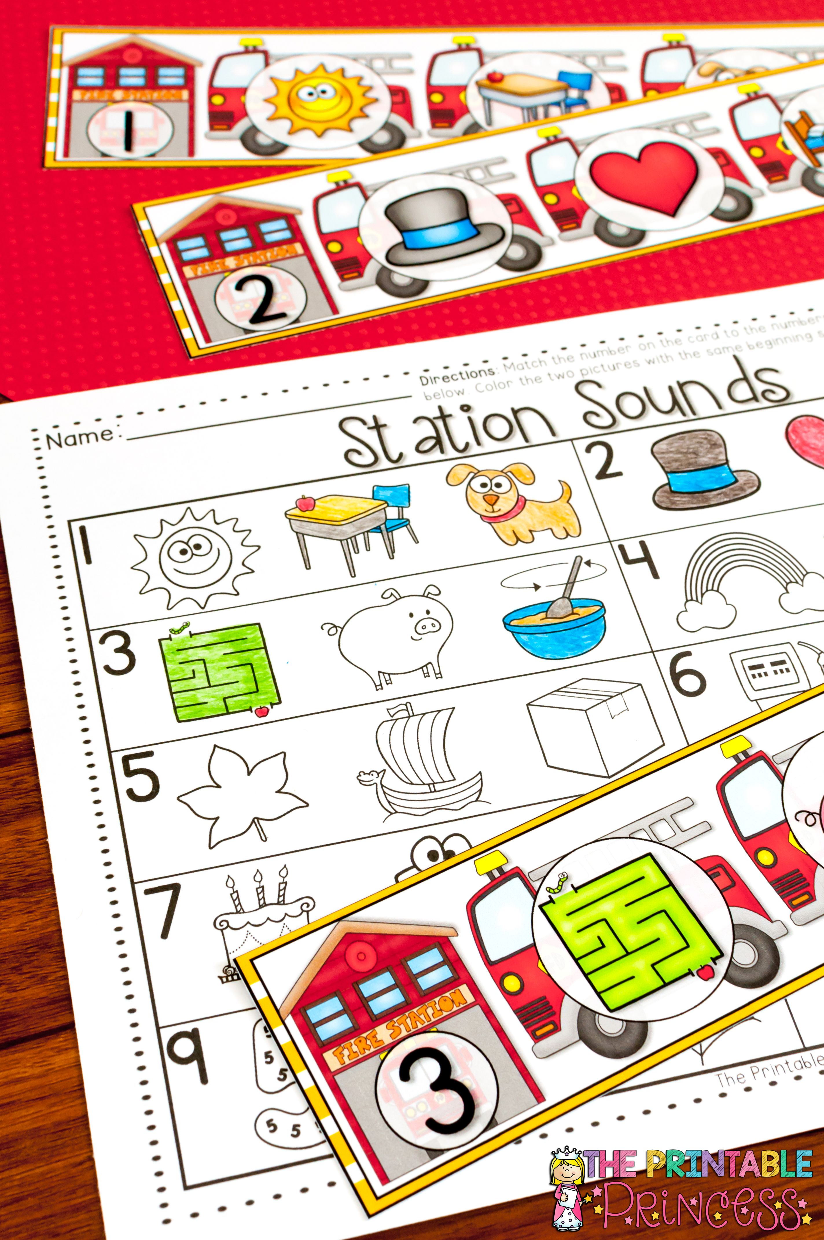 Fire Safety Centers and Printables for Kindergarten | Fire ...