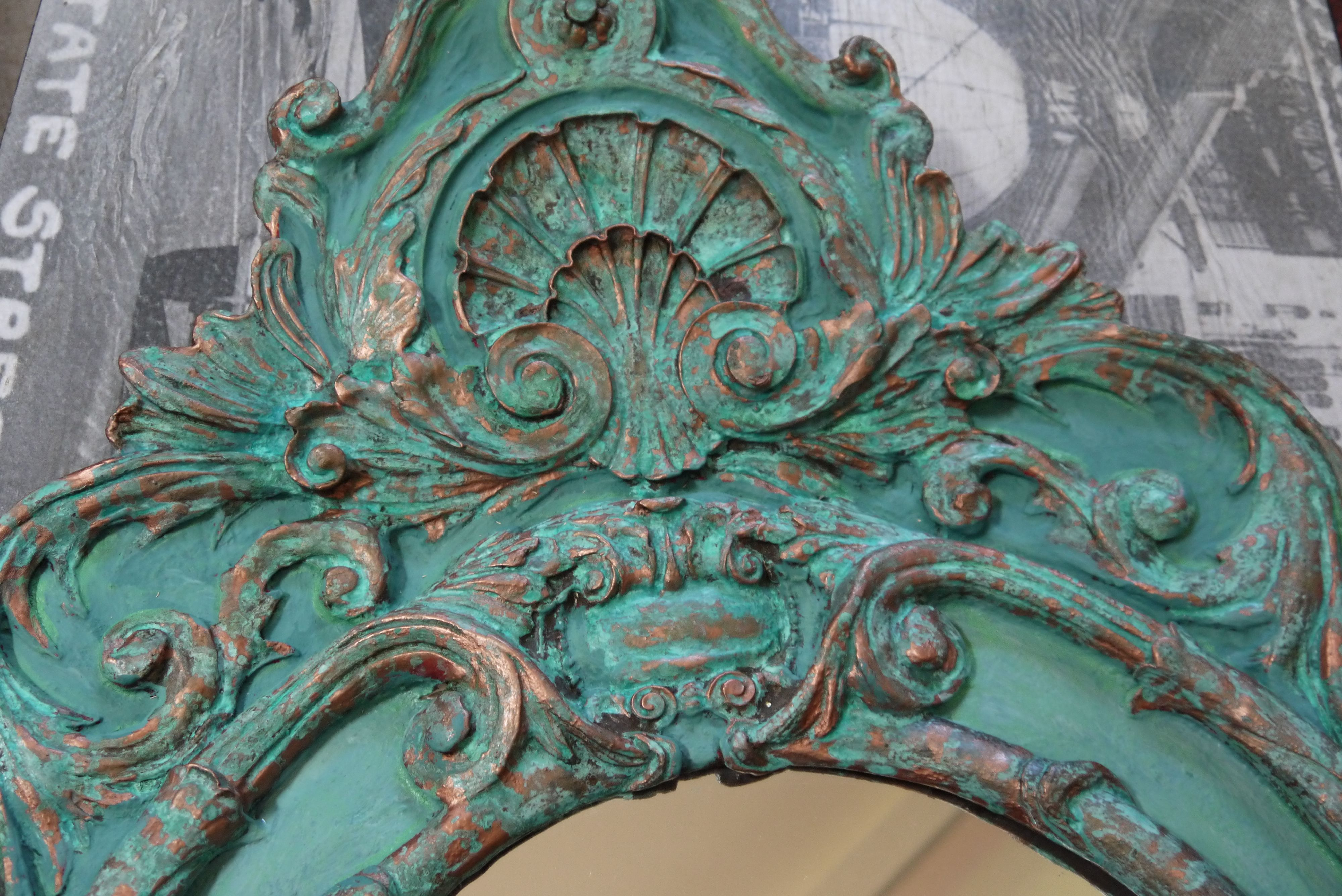 Custom frame Copper/Patina Florence/Provence chalk paint. www ...