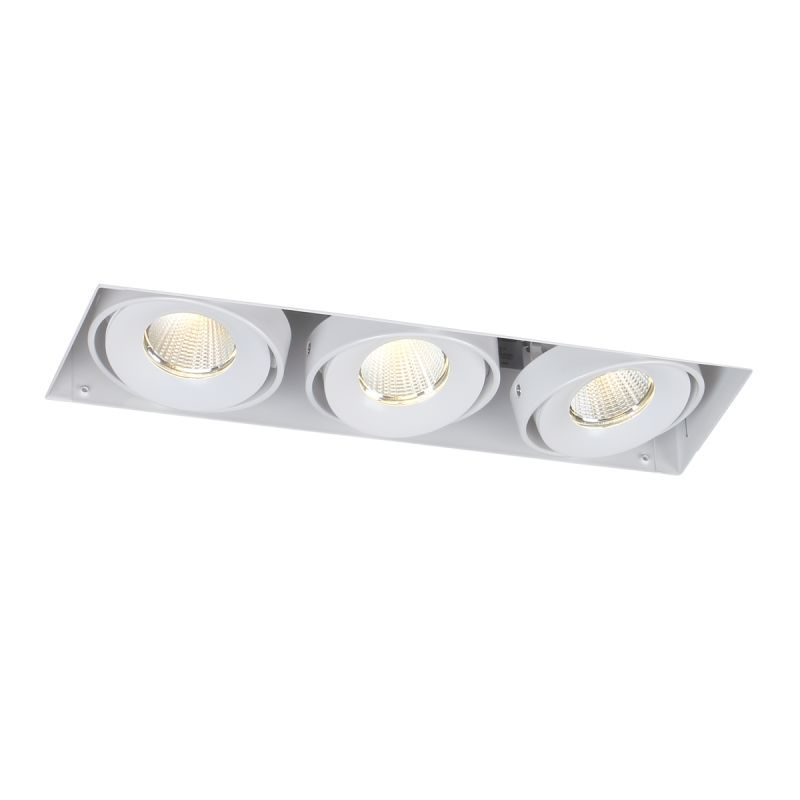 Eurofase Lighting TE613LED LED Trimless 3 Light Recessed Lighting Kit White Recessed Lights Trim and Housing Package Recessed Lighting Fixtures