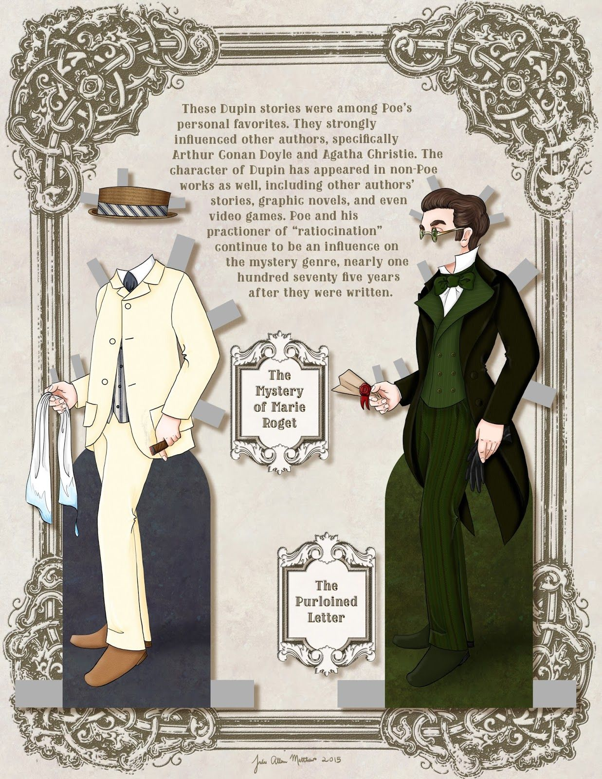 Paper Doll School: C. AUGUSTE  DUPIN Paper Doll 2 of 2