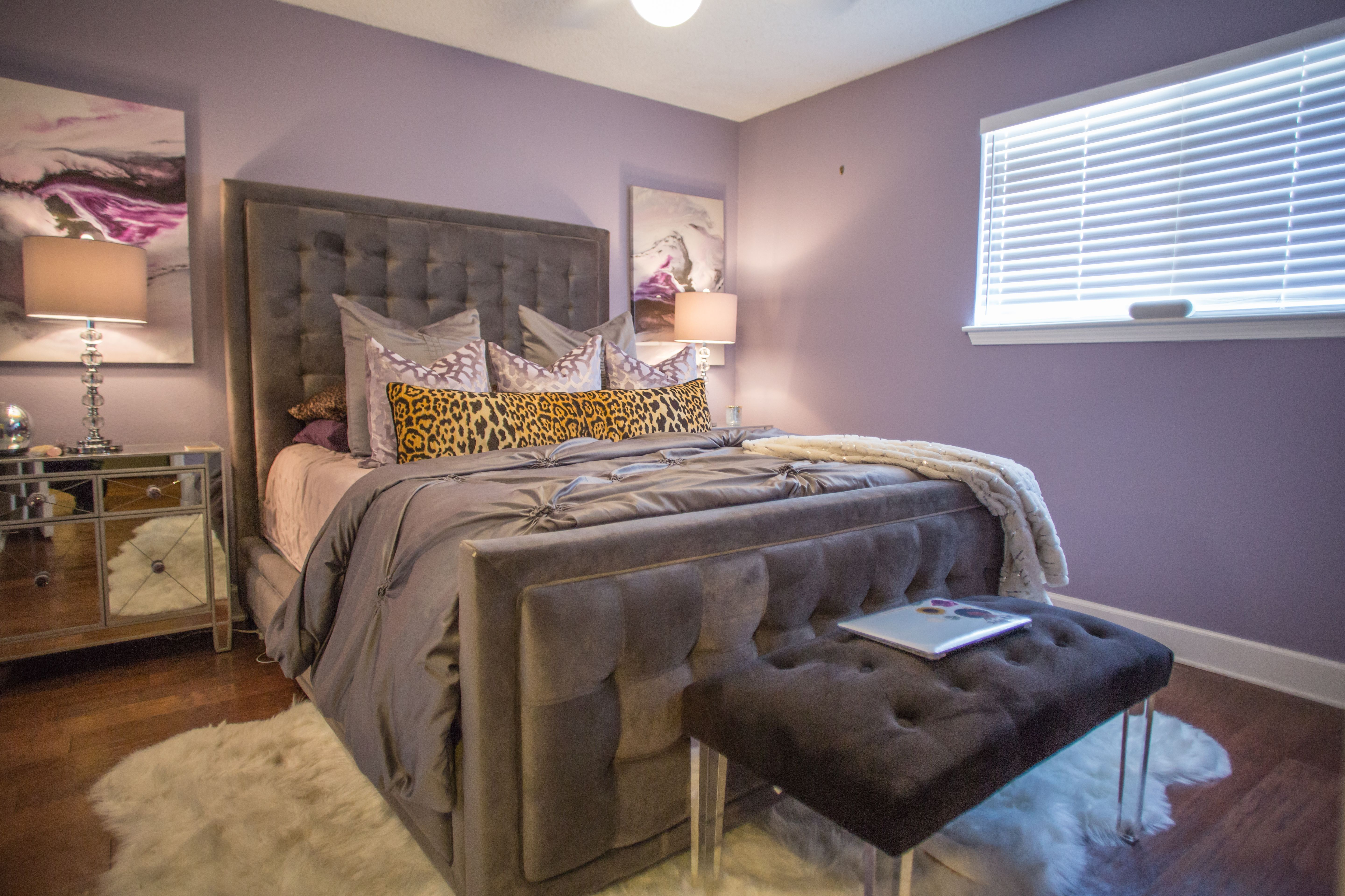 Themonalisaa Styles A Luxurious Purple Bedroom With Glam Accents See More At Www Monalisaastyles C Luxurious Bedrooms Small Bedroom Furniture Bedroom Design