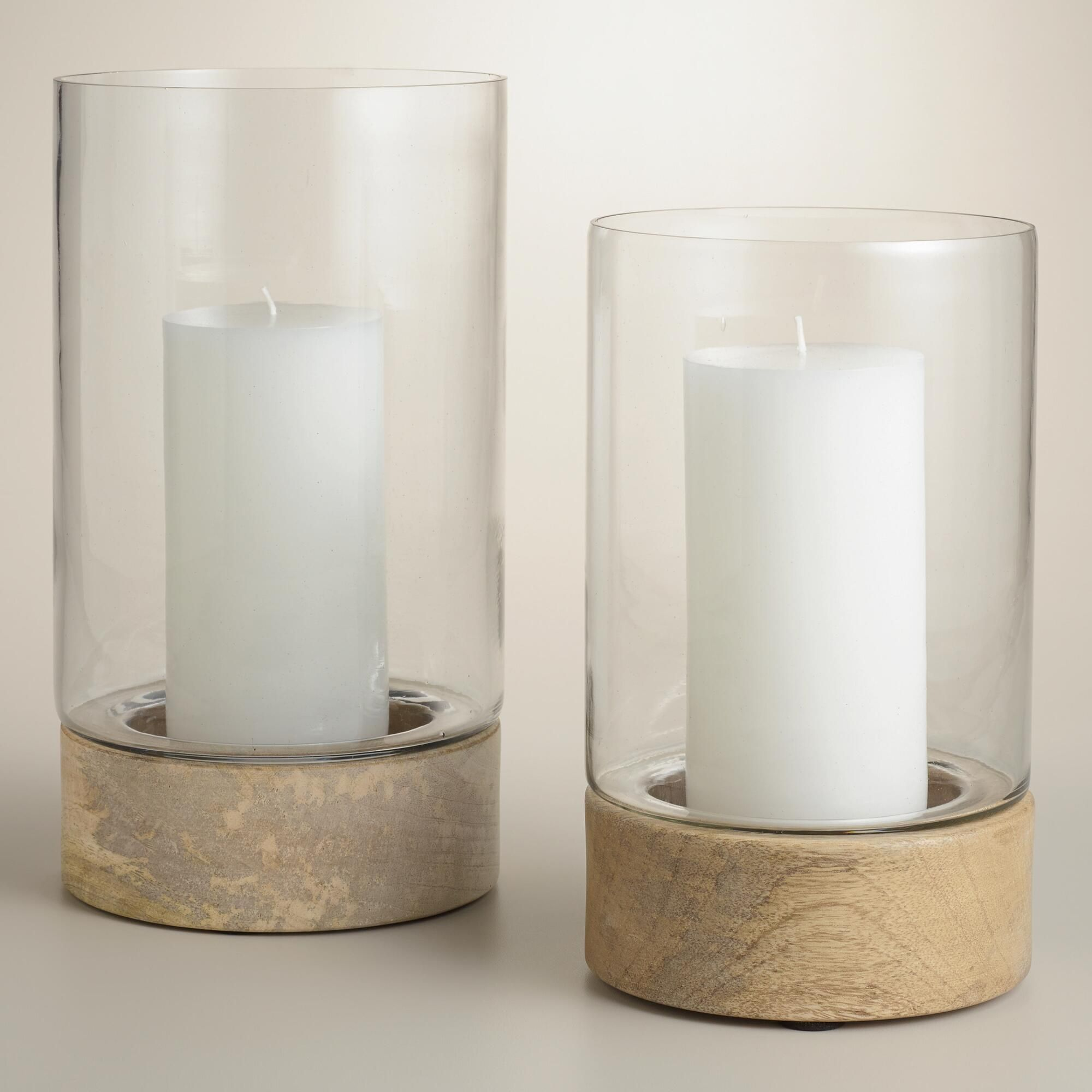 Form meets function with our natural wood base glass hurricane form meets function with our natural wood base glass hurricane candleholders reviewsmspy