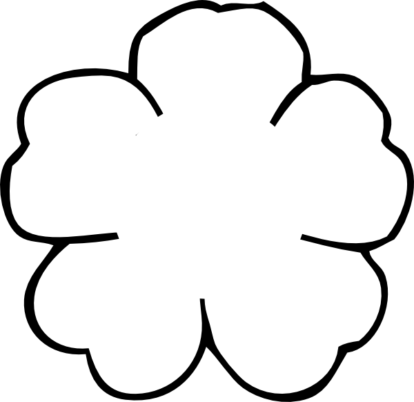 poppy flower outline to print | Flower Outline No Center clip art ...