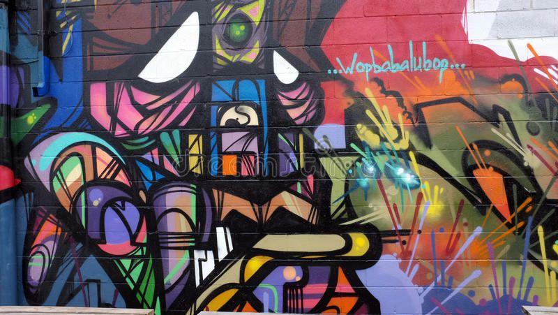 Beauttiful mural  graffiti Beauttiful mural with aboriginal peoplegraffiti in