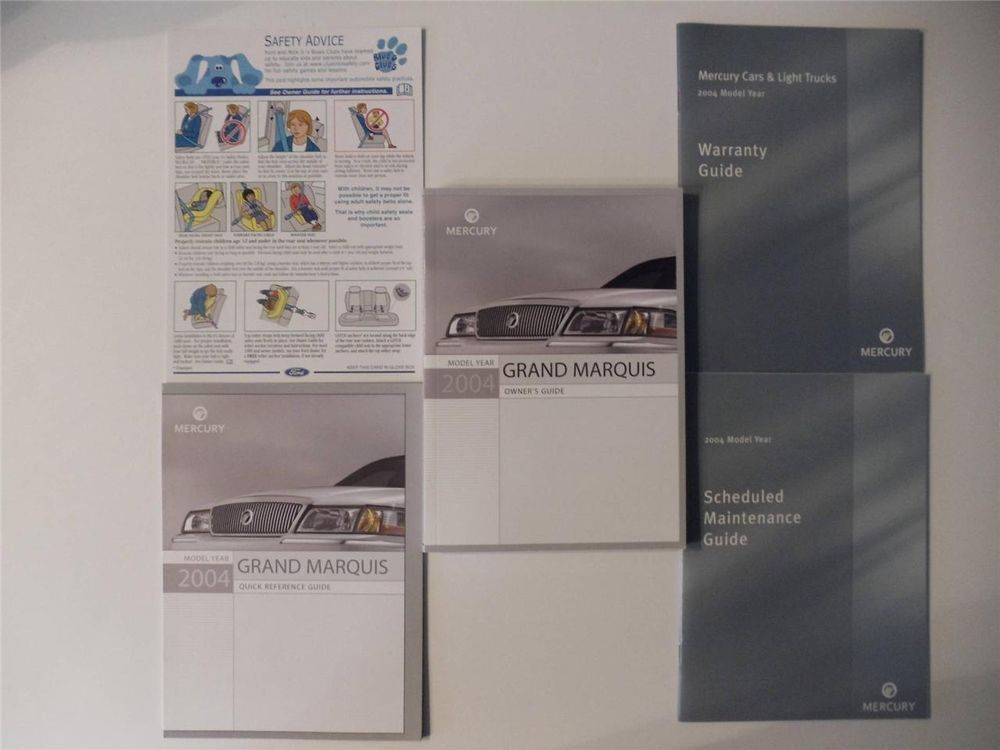 2004 mercury grand marquis owners manual book set owners manuals rh pinterest co uk 2004 mercury grand marquis owners manual 2004 Grand Marquis Interior Parts