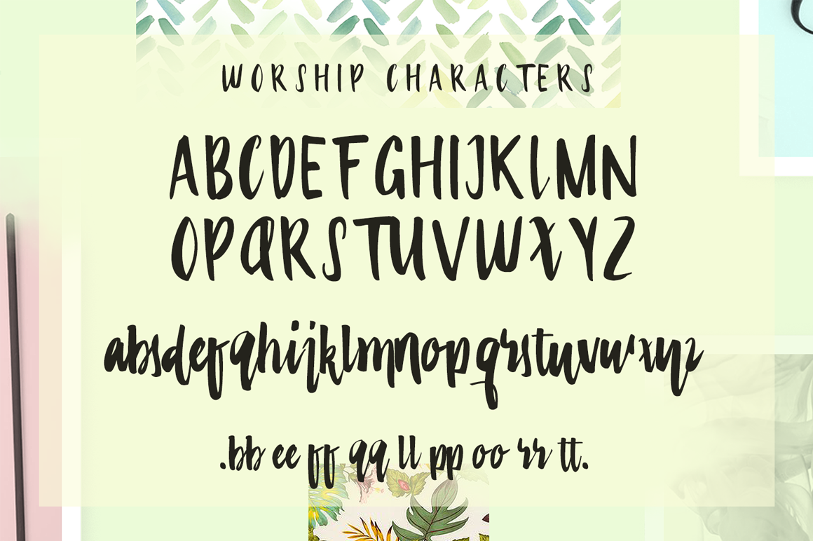 Worship (OTF & TTF Format) Web fonts included (EOT, SVG