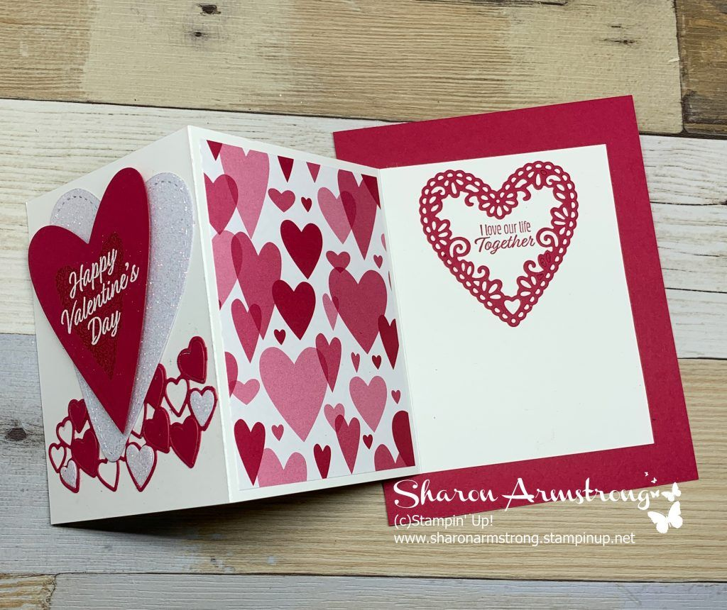 i'm sharing and exciting and easy fun fold valentine card