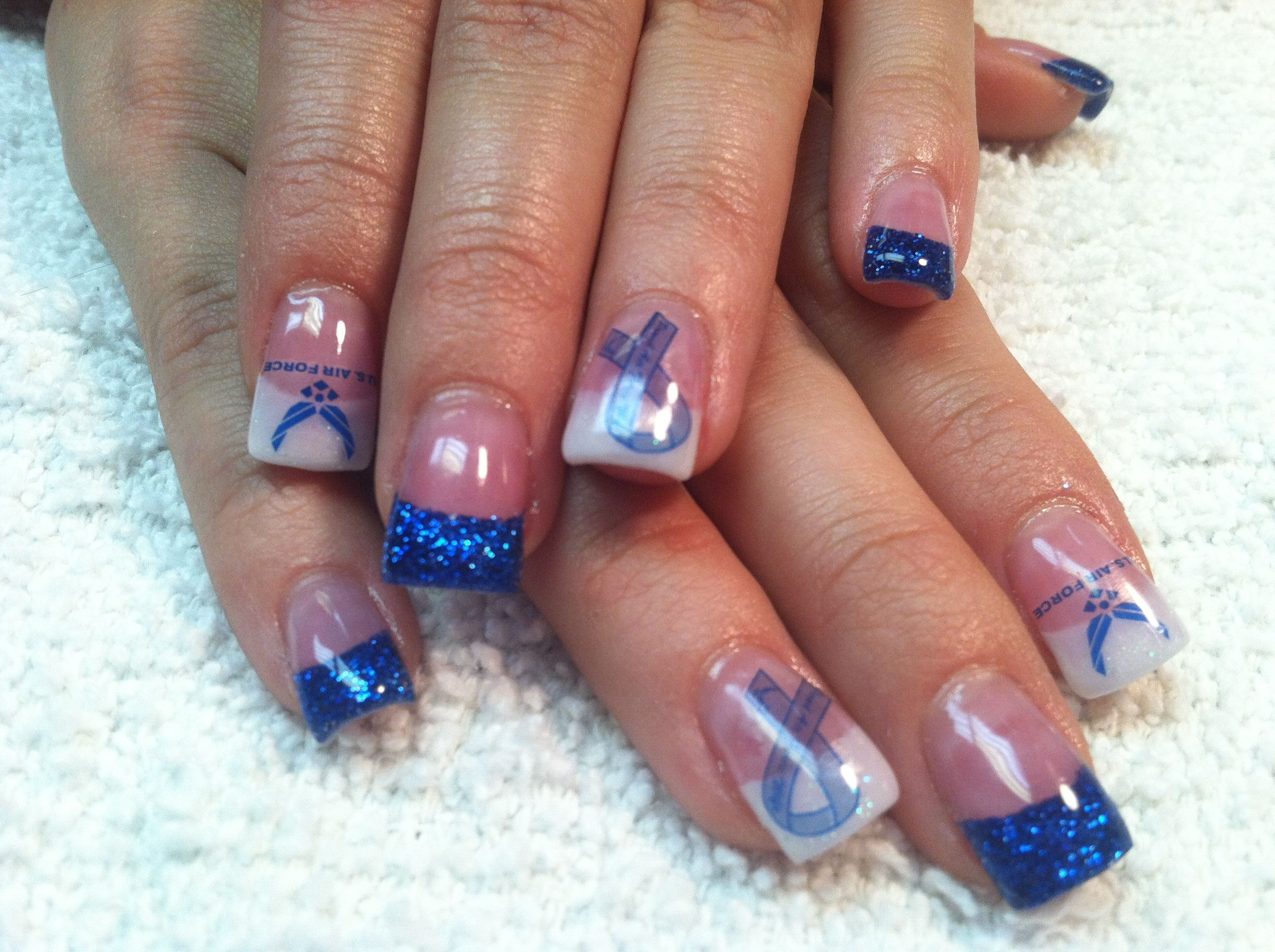 Air Force pride | nails | Pinterest | Air force, Nail nail and ...