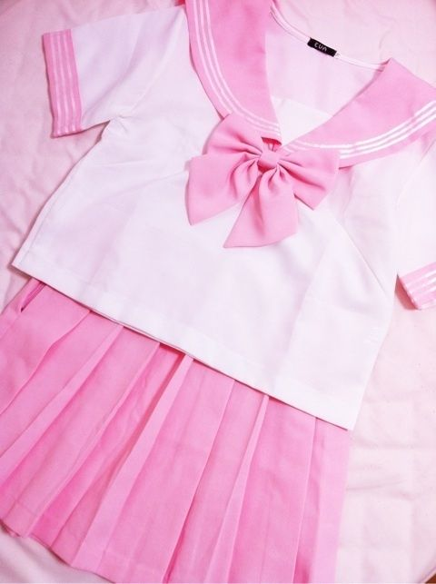 Kawaii Sailor Uniform Schoolgirl School Girl Pink Cosplay -1360