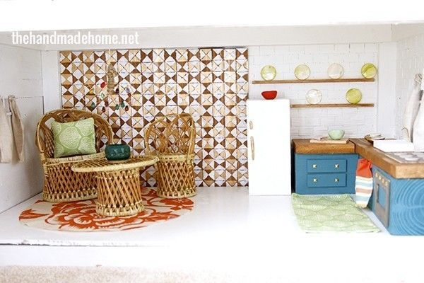 How To Make A Dollhouse Kitchen Doll Houses And Miniatures