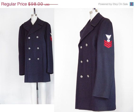 Pea coat, Vintage 70s and Navy on Pinterest
