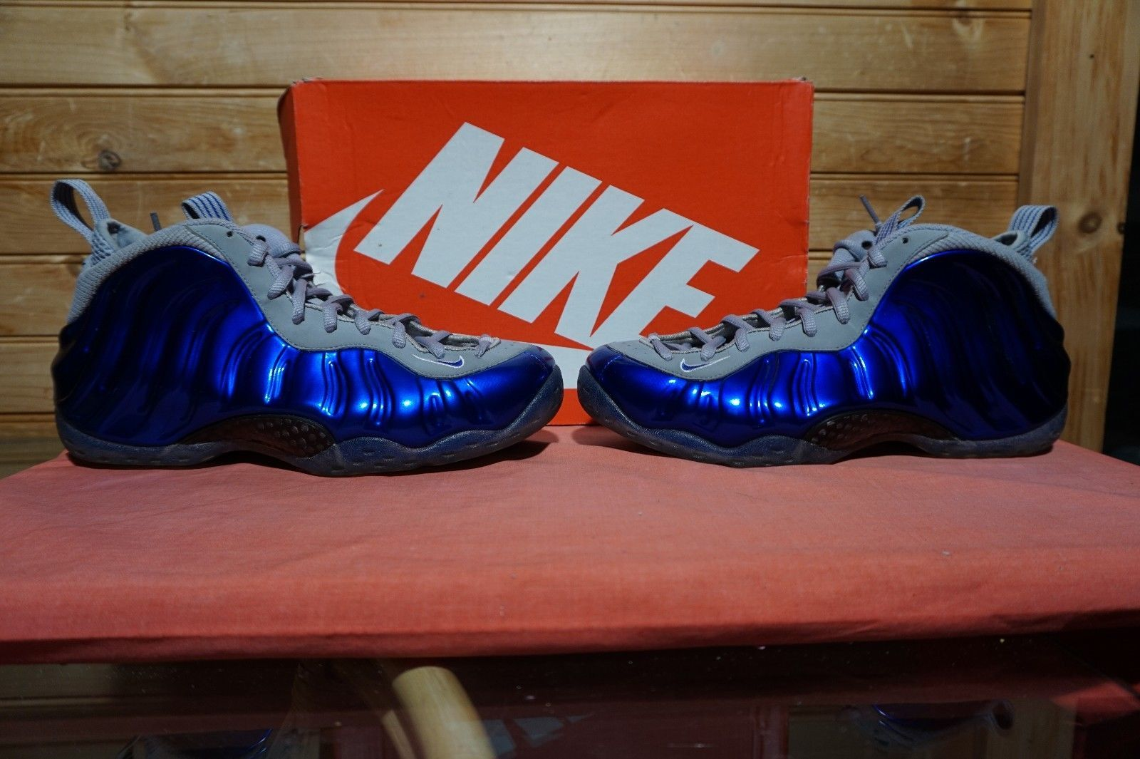 0a81401cc3f Nike Air Foamposite One Sport Royal Game Royal Wolf Grey Size 9.5 (1719)