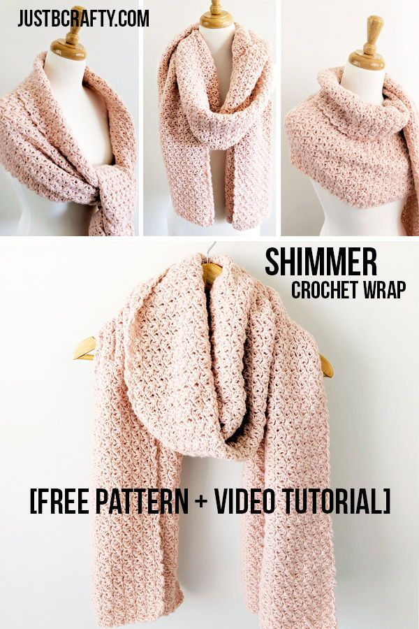 Shimmer Crochet Wrap - Just Be Crafty