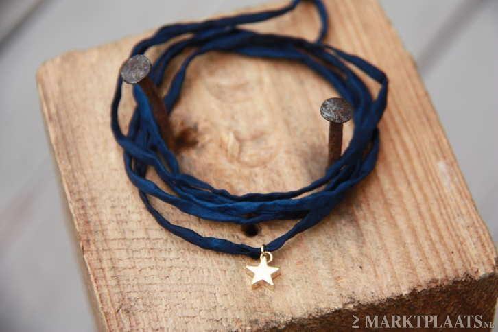 Marktplaats.nl > Nw Org. Silk armbandje met verguld Sterretje Maison Scotch - Sieraden, Tassen en Uiterlijk - Armbanden