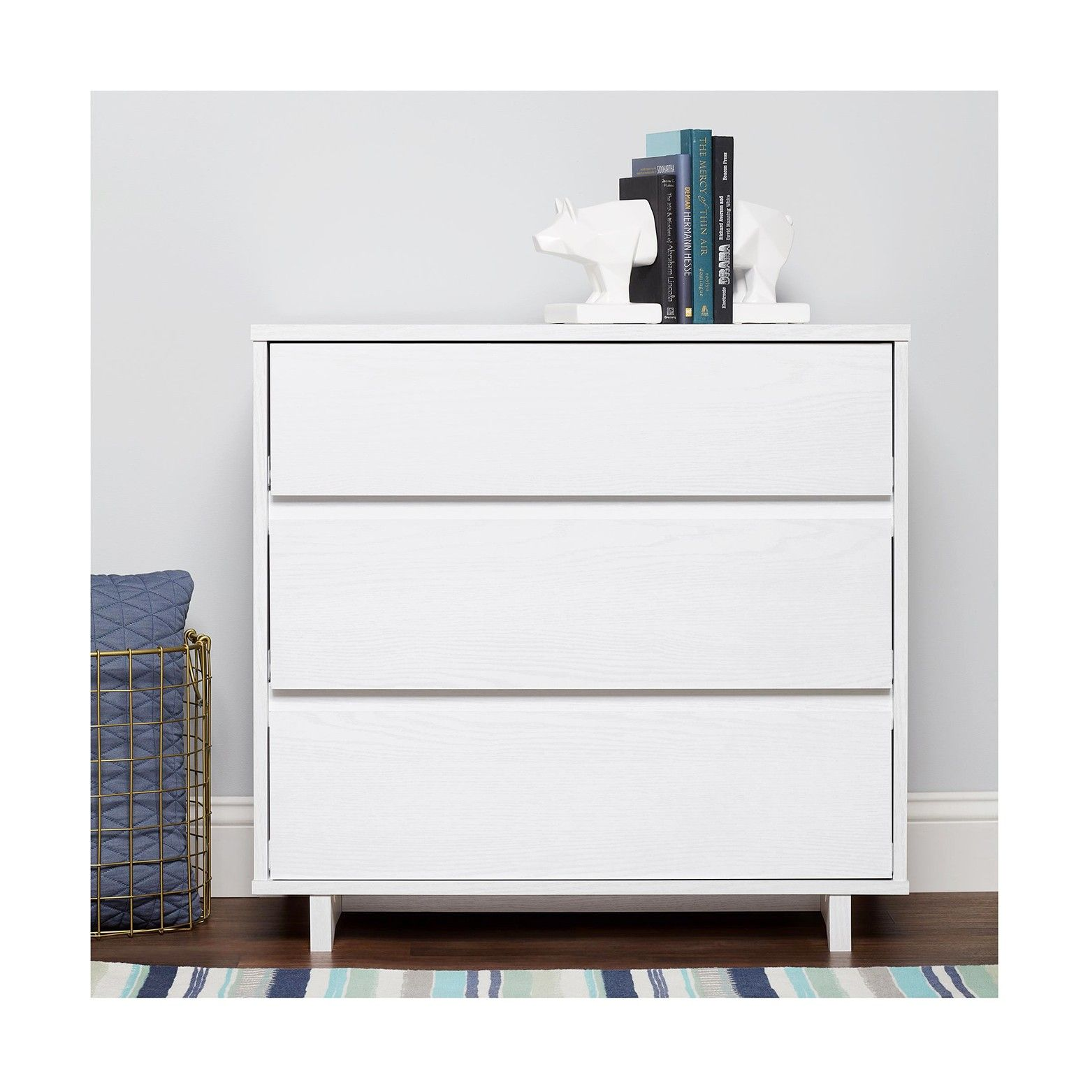 The Room Essentials Modern 3 Drawer Dresser Has A Smooth Clean
