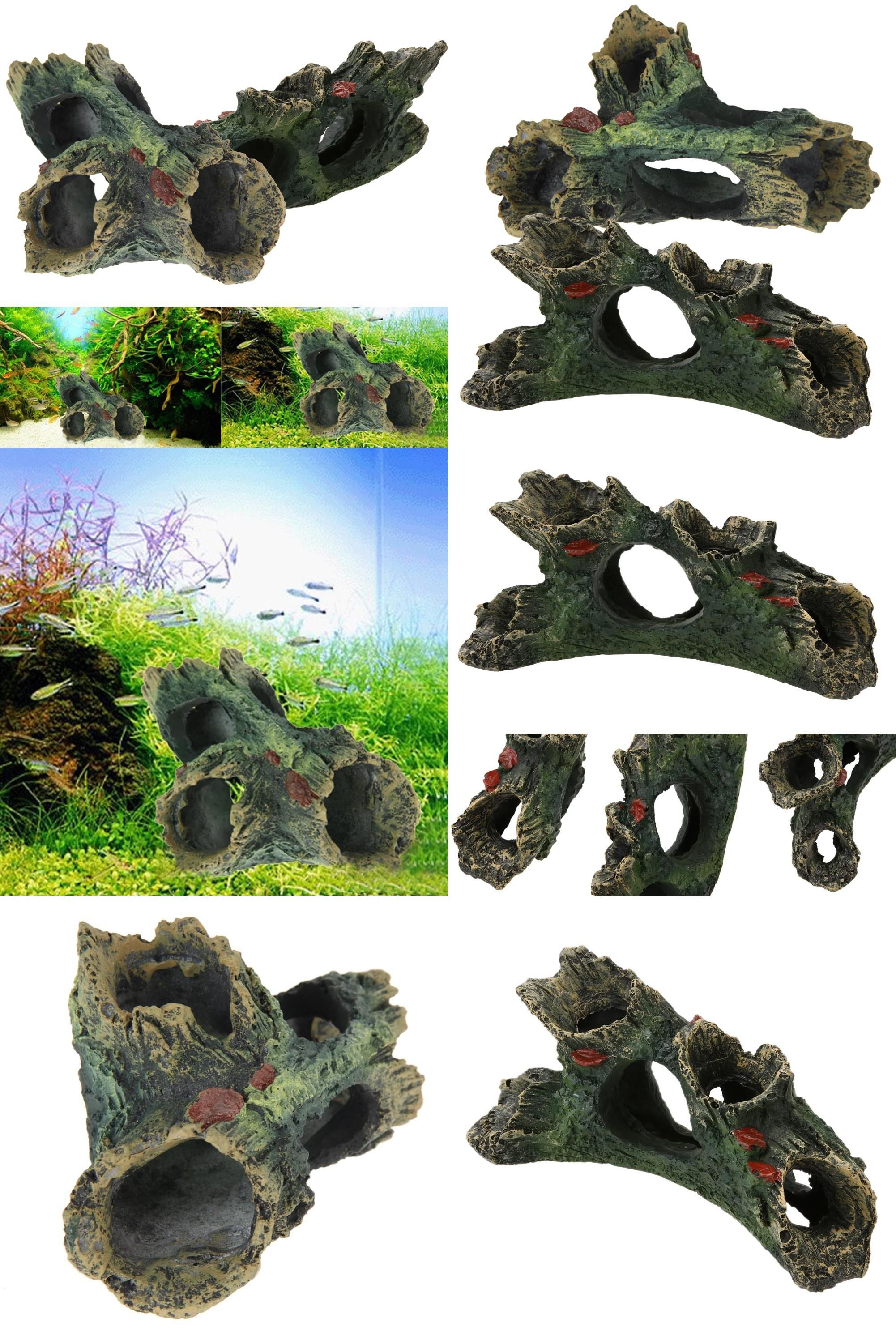 Visit To B C Style Resin Aquarium Tree Decoration Artificial Driftwood For