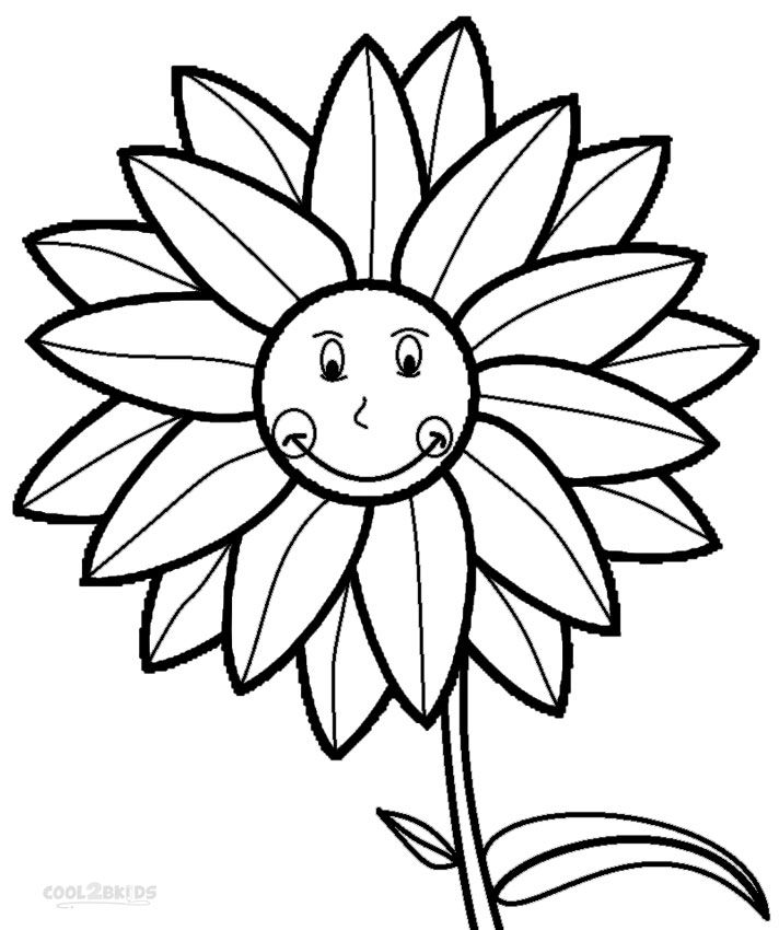 Sunflower Coloring Pages With Images Coloring Pages Flower