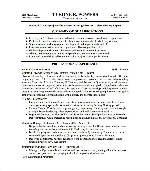Problem Solving Resume Resume Format For 5 Years Experience In Operations  Resume Format .