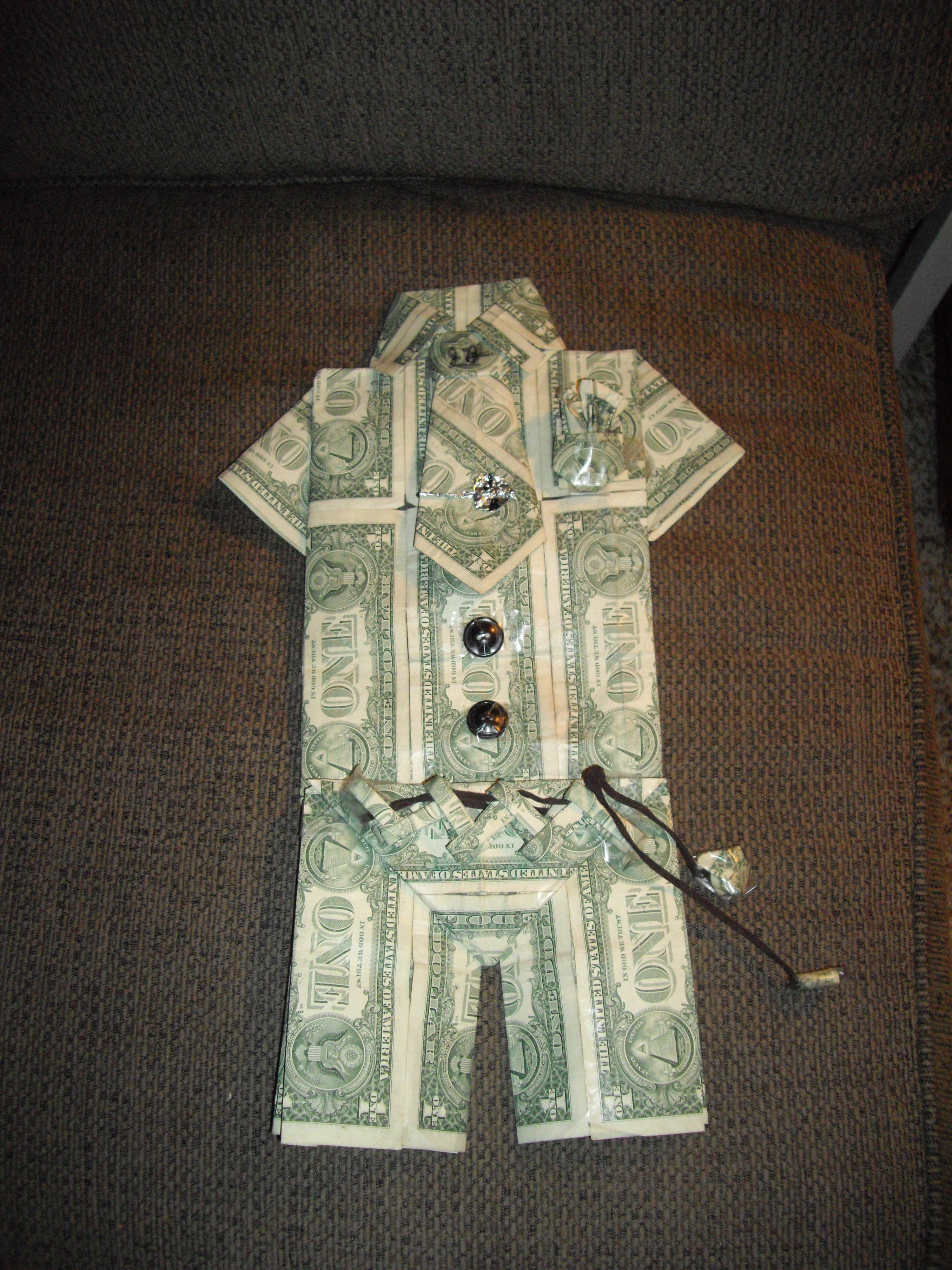 Money Suit Craft Ideas Money Origami Dollar Bill Origami