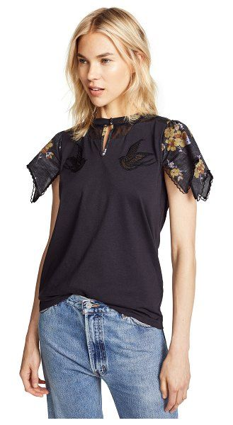 54a8b9a1f1 1941 lace embroidered t-shirt by COACH  coach