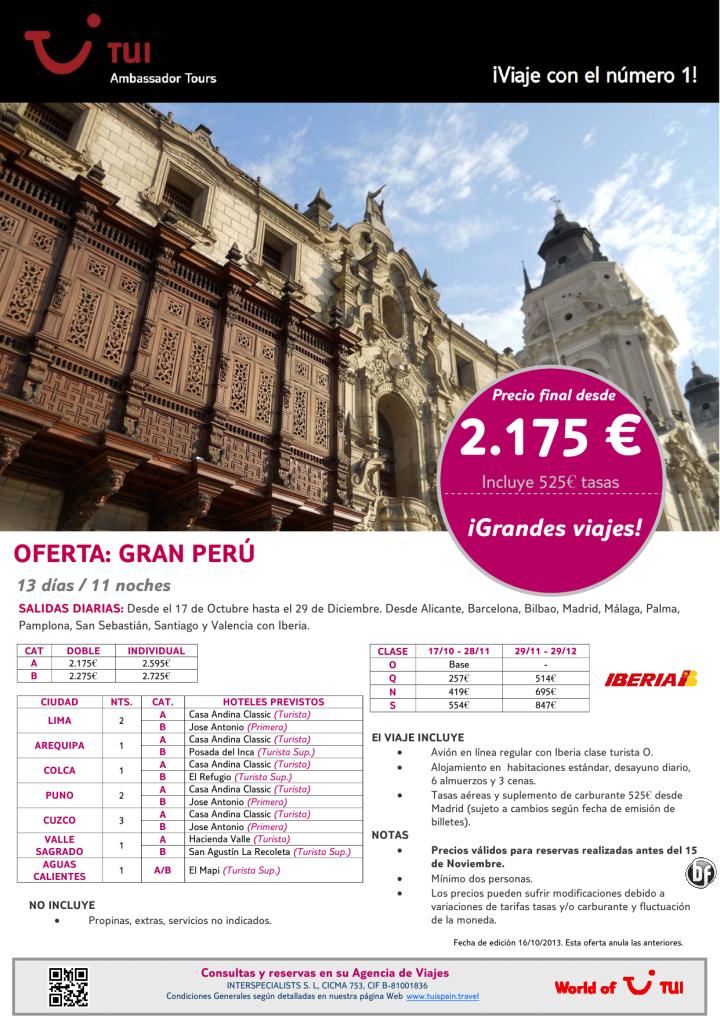 ¡Grandes viajes! Oferta Gran Perú. Precio final desde 2.175€ - http://zocotours.com/grandes-viajes-oferta-gran-peru-precio-final-desde-2-175e-11/