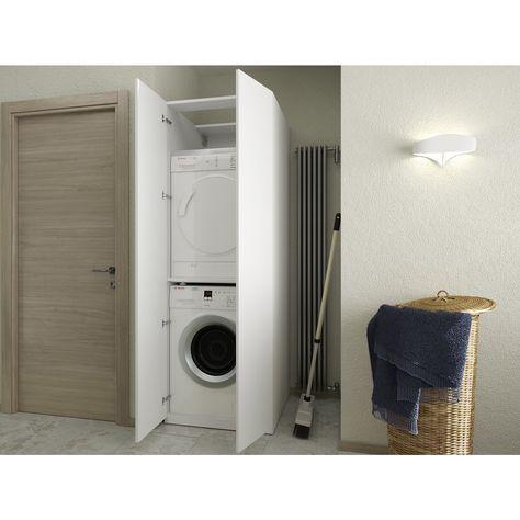 Colonna bagno per lavatrice e asciugatrice Aquna